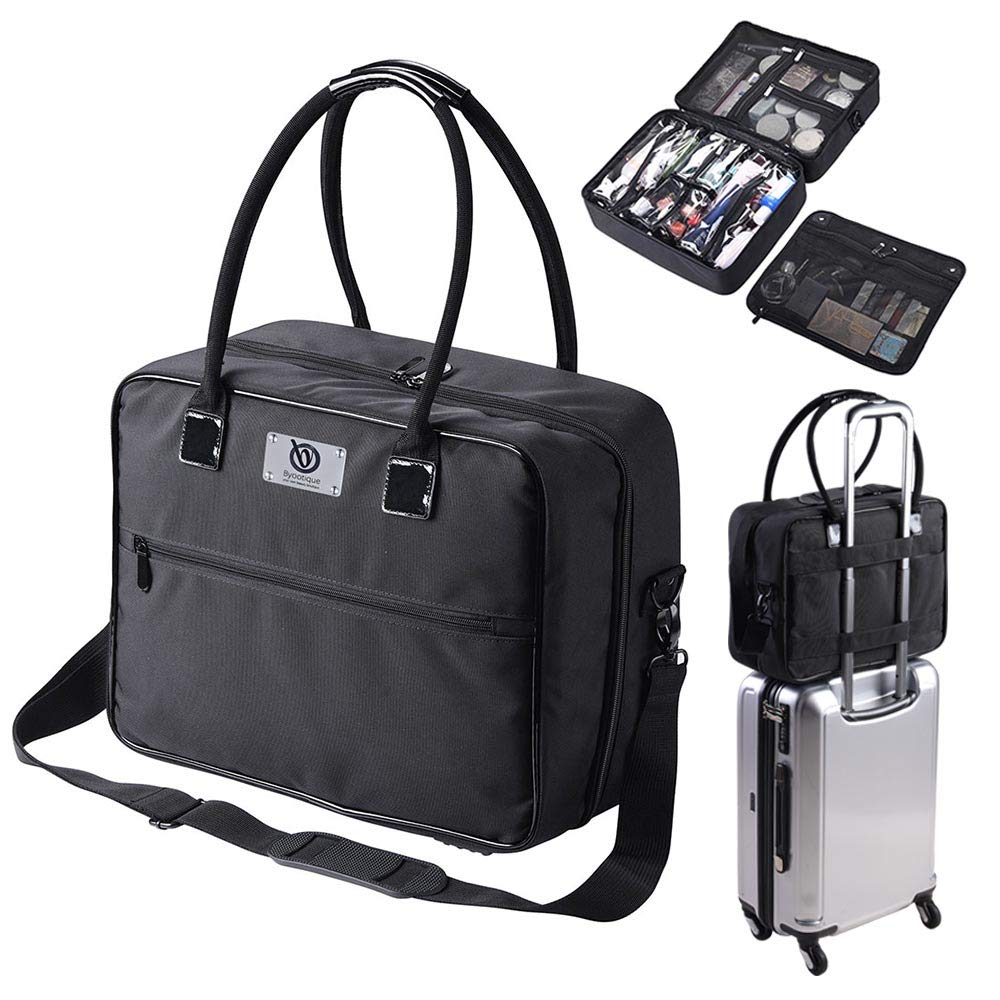 travel makeup bag with compartments
